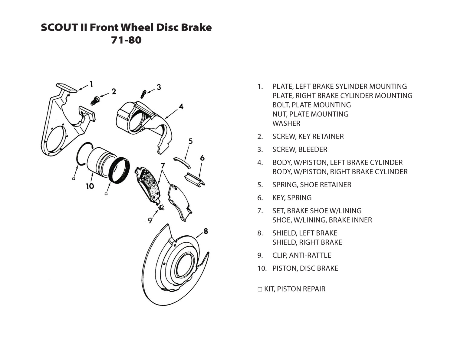 Scout Rear Brake Diagram Wiring Diagrams Drum Assembly Connections Brakes Page Chevy Truck Dodge